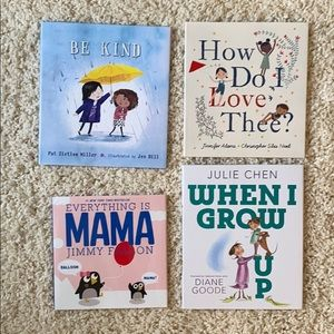 set of 4 children's books
